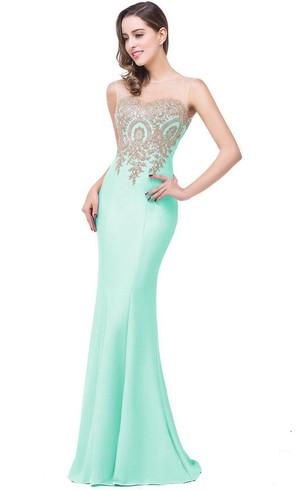 Mint & Pale Green Color formal Dress, Mint Prom Dresses - Dorris Wedding