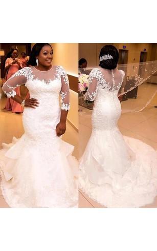 Plus Size Mermaid Wedding Dresses Dorris Wedding