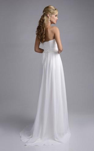 Simple White Wedding Dresses | Plain Wedding Dresses - Dorris Wedding