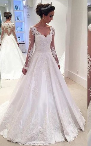 Lace Bridal Dress With Long Sleeves | Lace Sleeve Wedding Gowns ...