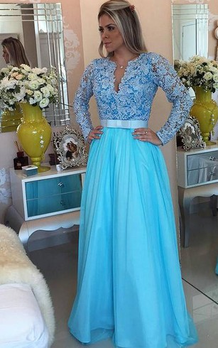 Prom Dresses With Long Illusion Sleeve Cheap Long Sleeved Formal