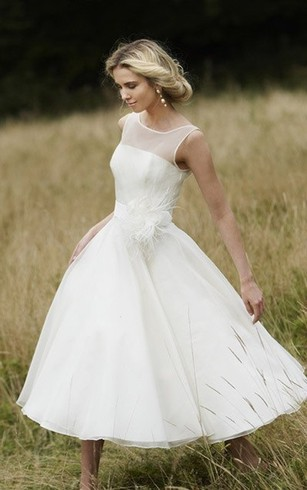 Tea Length Bridal Dresses MidLength Wedding Gown Dorris Wedding - Mid Length Wedding Dresses