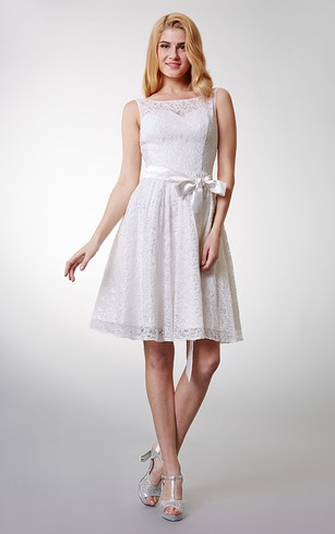 Little White Lace Prom Dresses | Lace Short Formal Dress - Dorris ...