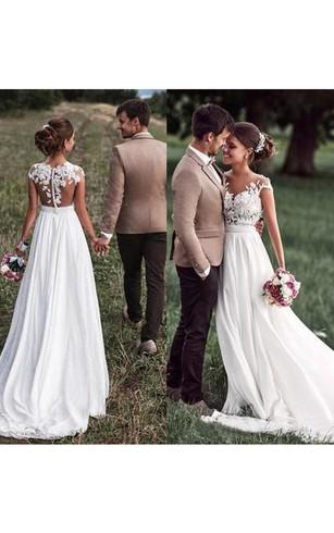 Bohemian Beach Wedding Dress | Destination Wedding Dress - Dorris ...