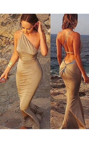 Champagne Color Prom Dress 2018, 2018 Champagne formal Dresses ...