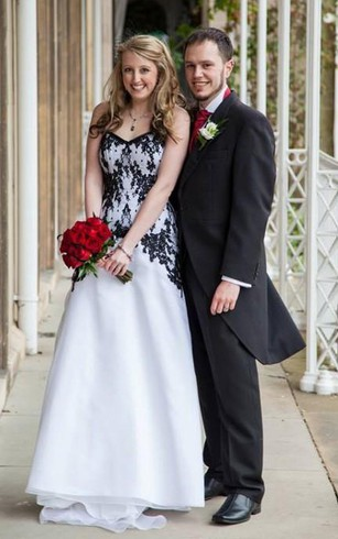 White And Black Bridal Dresses | Gorgeous Black Wedding Dresses ...