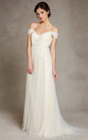 Spaghetti Strapped Bridal Dress   Wedding Gowns With Thin Strap ...