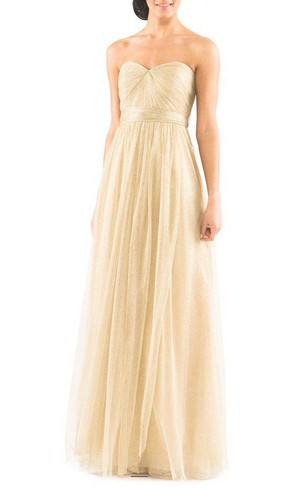 Convertible Ruched Tulle Bridesmaid Dress