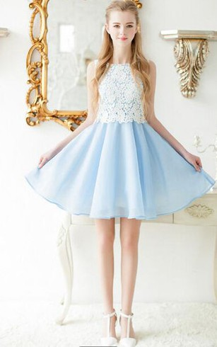 Power & Pale Blue Bridesmaids Dresses, Sky Blue Dress for ...