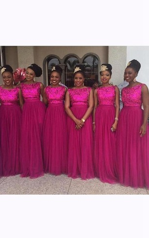 Hot Fuchsia Bridesmaids Dresses | Cheap Pink Color Bridesmaid Gown ...