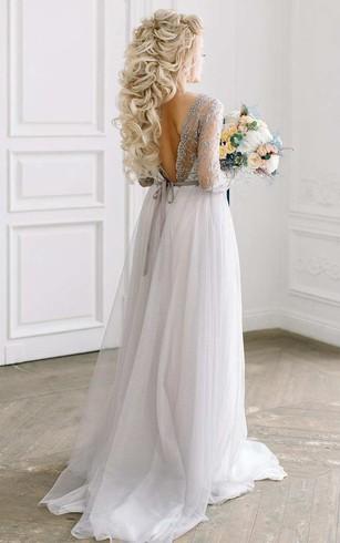 Sliver bridal dresses gray color wedding dress dorris wedding tulle satin beaded lace embroidered wedding dress junglespirit Image collections