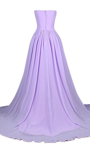 Sweetheart Chiffon Gown With Rhinestone Bodice