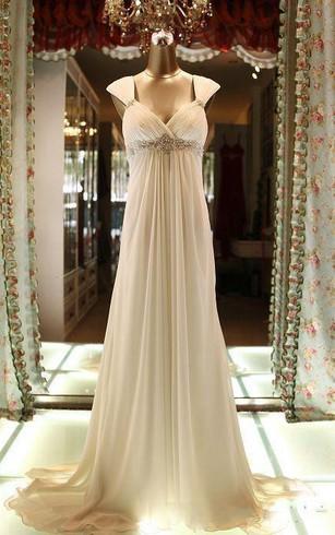 Cheap Bohemian Wedding Gown | Cheap Grecian Beach Bridal Dress ...