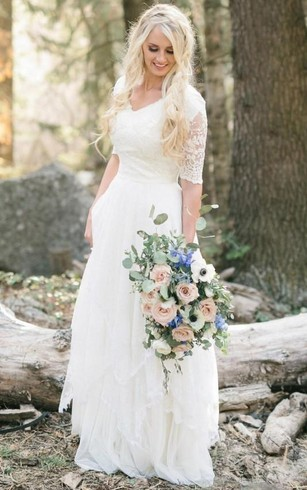 Boho Bridal Dress | Cheap Bohemian Wedding Gowns - Dorris Wedding