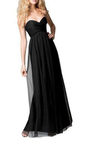 Sweetheart Tulle Long Dress with Ruching