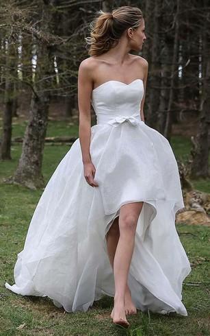 Long sleeved winter bridal dresses satin wedding gowns dorris high low sweetheart sleeveless organza applique wedding dress junglespirit Choice Image