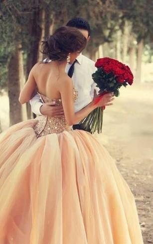 Coral Wedding Dresses - Dorris Wedding