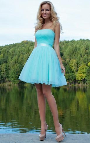 Green Prom Dress | Teal Homecoming Dresses - Dorris Wedding