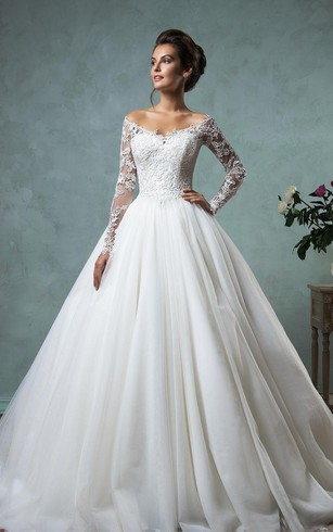 Sleeved bridal dresses long sleeves wedding dress dorris wedding a line ball gown empire mini jewel v neck long sleeve bell empire dropped junglespirit Images