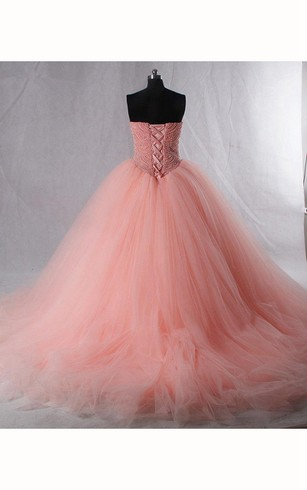 Tea-Length Straps Sweetheart Bell Pleats Beading Tiers Zipper Corset Back Straps Tulle Lace Dress