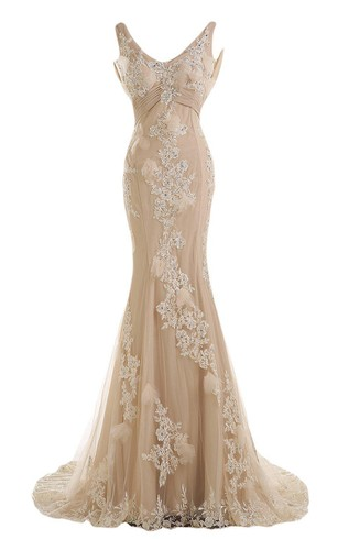 Gold Formal Dress | Gold Long Rose Prom Dresses - Dorris Wedding