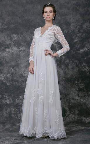 Cheap Empire Wedding Dresses | Empire Waist Bridal Gowns - Dorris ...