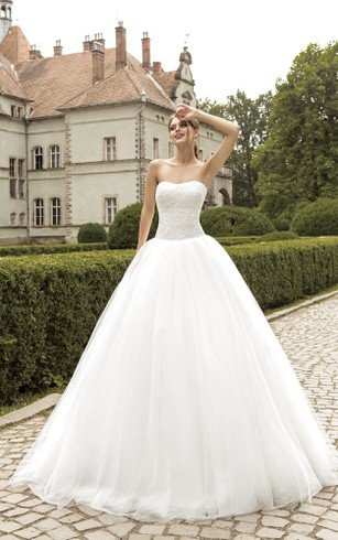 Strapless Ball Gown Wedding Dresses | Free Shipping - Dorris Wedding