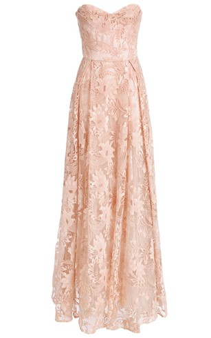 Delicate Lace Sweetheart A Line Prom Dress 2016 Sleeveless Floor Length ...