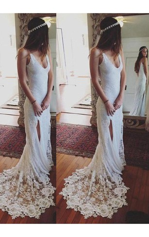 Cream Color Lace Bridal Dress, Cream Wedding Dresses with Lace ...