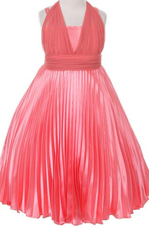 Pink flower girl dresses flower girl dresses shop by color sleeveless a line pleated dress with straps and bow mightylinksfo