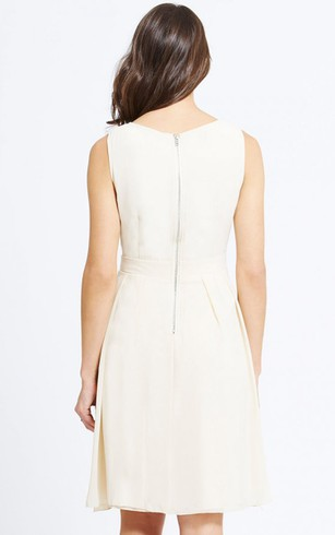 Graceful Short Tank Style Dress With Back Zipper