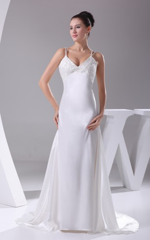 Silk Wedding Dresses Straps