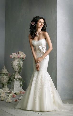 Stylish Trumpet Bridal Dress | Cheap Mermaid Lace Wedding Gowns ...