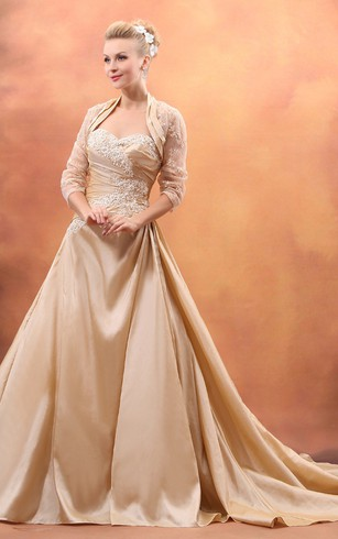 Gold color dress for wedding