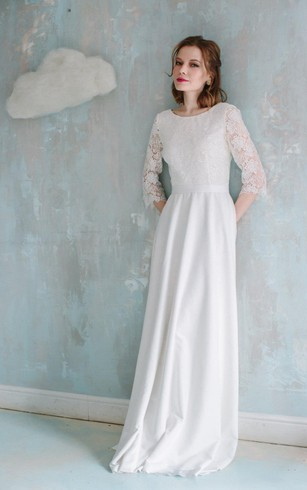 Long Sleeved Winter Bridal Dresses | Satin Wedding Gowns - Dorris ...