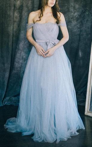 Power & Pale Blue Bridesmaids Dresses, Sky Blue Dress for Bridesmaid ...