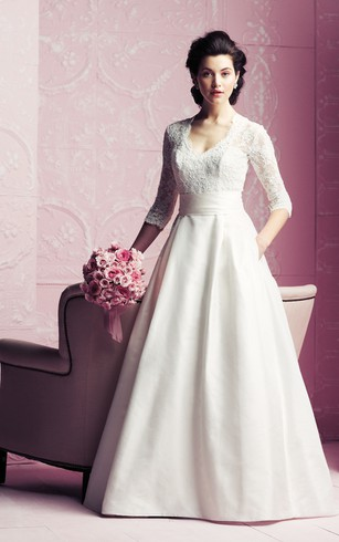 Canada Mature Women Wedding Dress Elder Brides Bridals Gowns