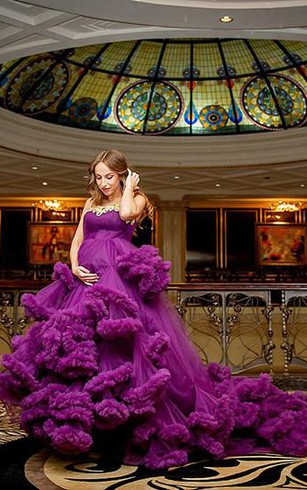 Cheap purple color wedding gown colorful bridal dresses dorris glamorous pregnant purple cloud wedding dress 2018 appliques womens party dress junglespirit Images