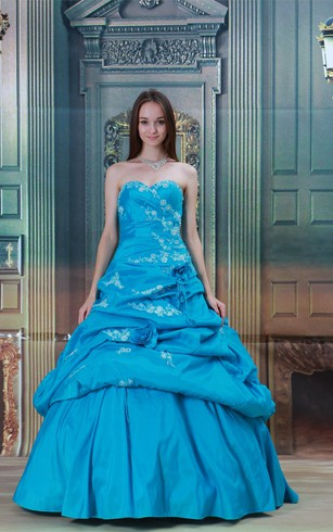 Exquisite Maxi Sweetheart Satin Taffeta Beaded Special Occasion Dresses