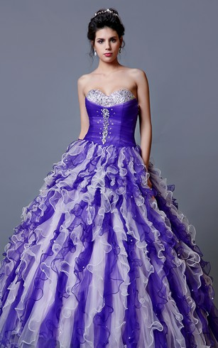 Sassy Sweetheart Ruffled Ballgown with Matching Bolero