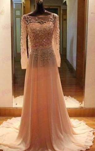 Cheap Nude Color Prom Dress | Nude Formal Dresses - Dorris Wedding