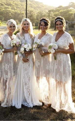 Vintage Lace Bridesmaids Dresses | 1920S Bridesmaid Gowns - Dorris ...