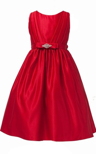 Sleeveless A-line Ruched Dress With Beadings