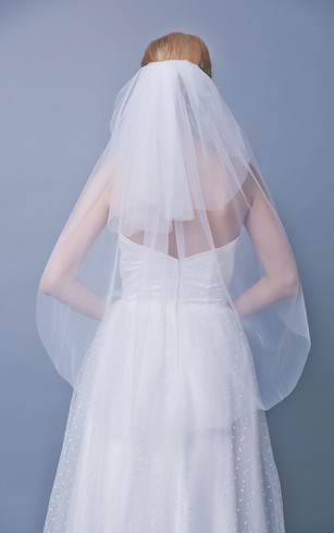 Mid Length Two Tier Veil Style