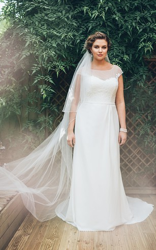 Informal Large Size Bridal Dresses, Plus Figure Casual Style Wedding ...