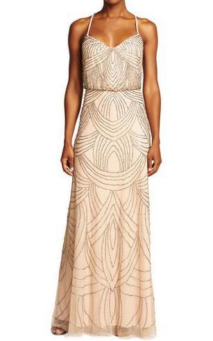 Rose Metallic Bridesmaid Gown | Gold Sequin Bridesmaid Dresses ...