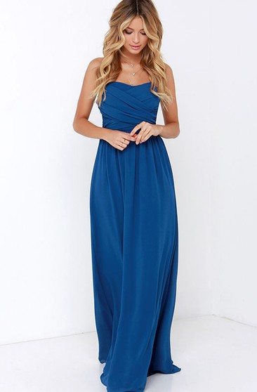 Chiffon Chic Dress With Crisscross Ruched Bodice