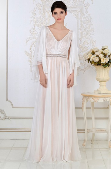 7a373b64d2d4 3/4 Sleeves Prom Dress, formal Dresses with Sleeve - Dorris Wedding