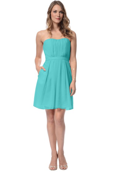 Strapless Sassy Short Dress With Keyhole Back