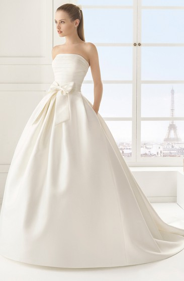 Satin Long Gown With Bow Sash Giveaway Overall